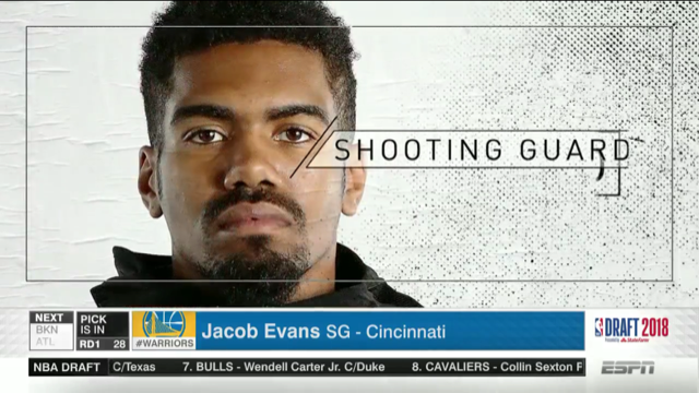 Jacob Evans the Golden State Warrior